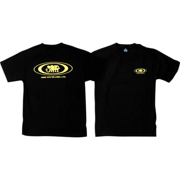 Black Label Skateboards Oval Elephant Black Men's Short Sleeve T-Shirt - Small