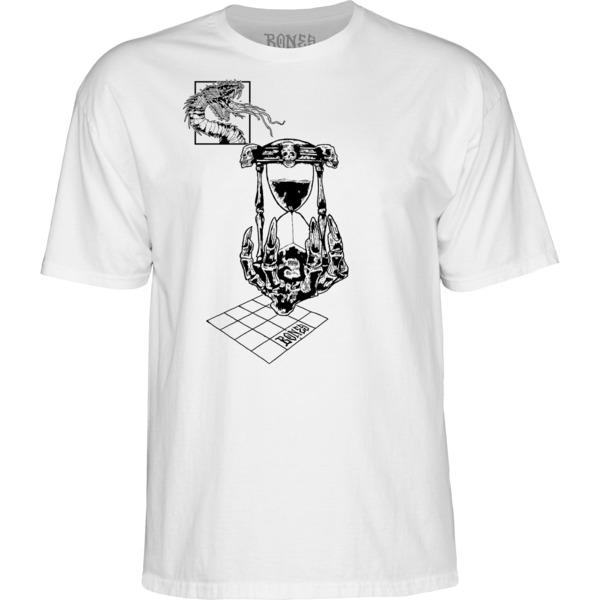 Bones Wheels Time Beasts Hourglass White / Black Men's Short Sleeve T-Shirt - X-Large