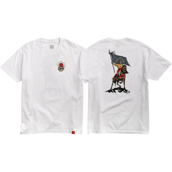 Chocolate Skateboards Luchadore White Men's Short Sleeve T-Shirt - Small