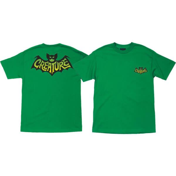 Creature Skateboards Batty Kelly Green Men's Short Sleeve T-Shirt - Medium