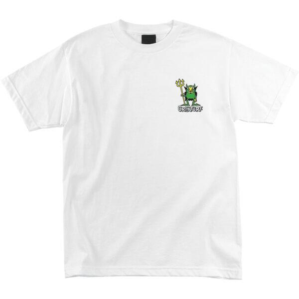 Creature Skateboards Beelzebub White Men's Short Sleeve T-Shirt - X-Large