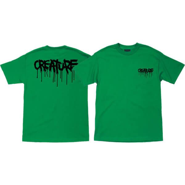 Creature Skateboards Blood Kelly Green Men's Short Sleeve T-Shirt - Small