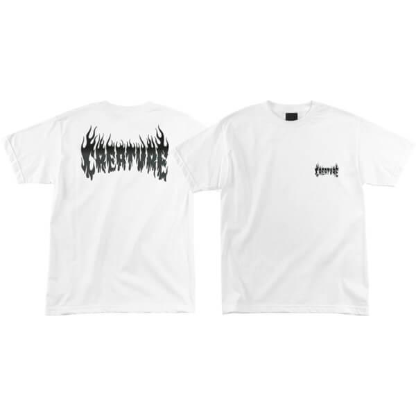 Creature Skateboards Firestarter White Men's Short Sleeve T-Shirt - X-Large