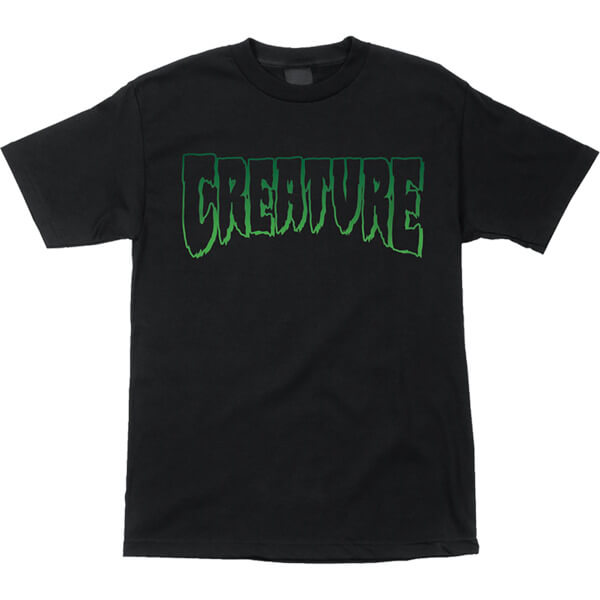 Creature Skateboards Logo Outline Black Men's Short Sleeve T-Shirt - Medium