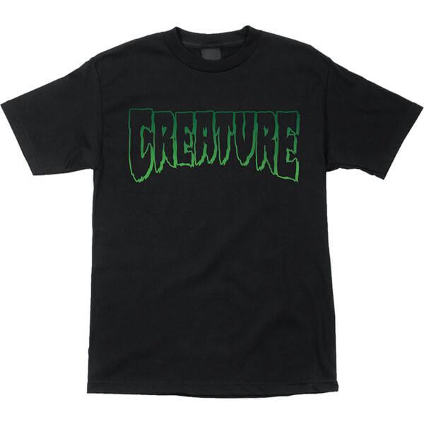 Creature Skateboards Logo Outline Black Men's Short Sleeve T-Shirt - X-Large