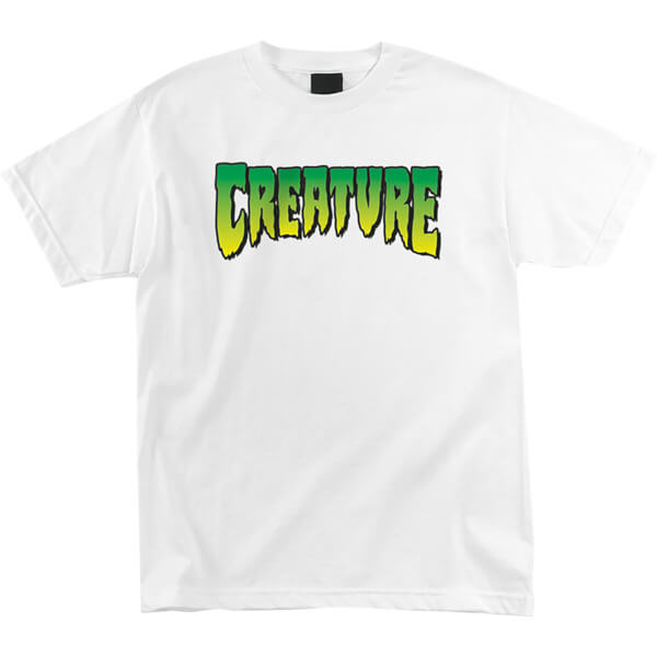 Creature Skateboards Logo White Men's Short Sleeve T-Shirt - Medium