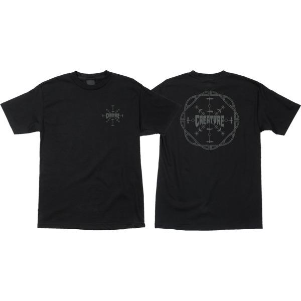 Creature Skateboards Runes Black Men's Short Sleeve T-Shirt - Small