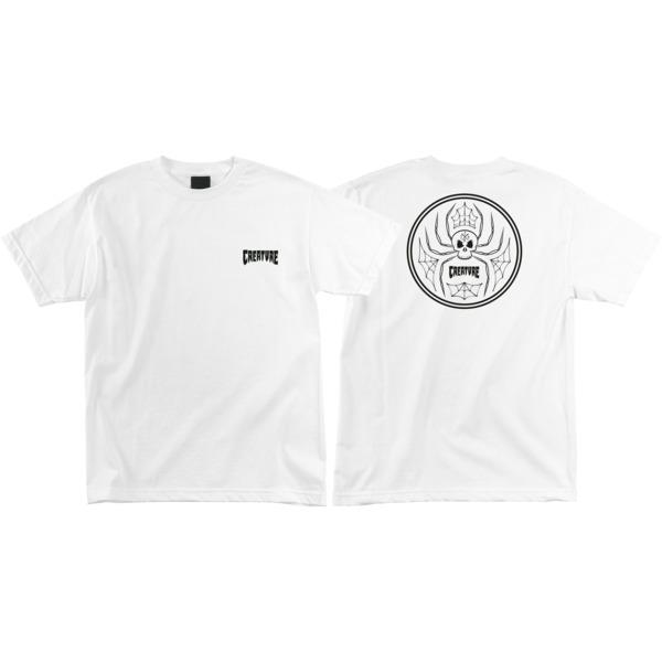 Creature Skateboards Skull Spider White Men's Short Sleeve T-Shirt - Large