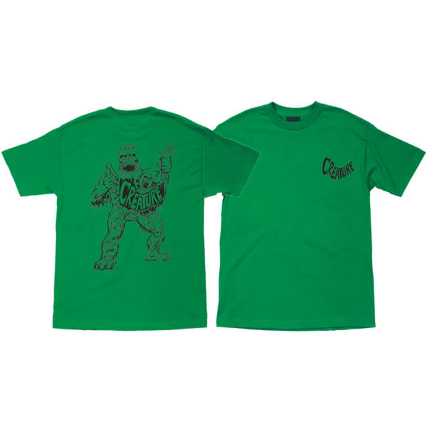 Creature Skateboards Saturday Morning Special Kelly Green Men's Short Sleeve T-Shirt - Large