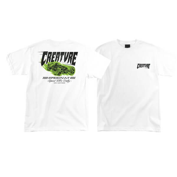 Creature Skateboards Speedway White Men's Short Sleeve T-Shirt - X-Large