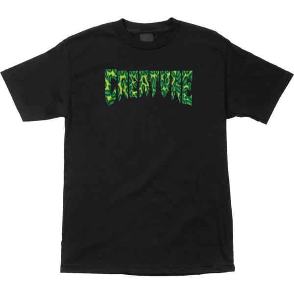 Creature Skateboards Strains Black Men's Short Sleeve T-Shirt - Small