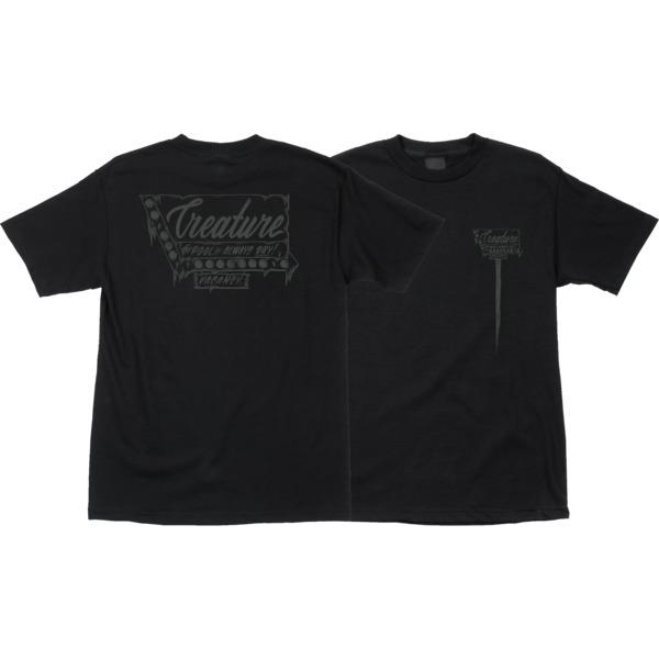 Creature Skateboards Vacancy Black Men's Short Sleeve T-Shirt - Small