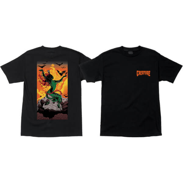 Creature Skateboards Viscerous Black Men's Short Sleeve T-Shirt - Medium