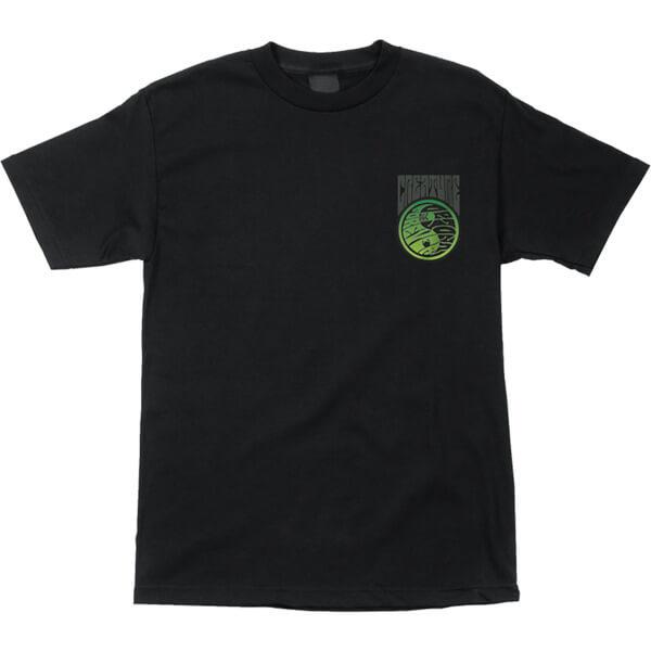 Creature Skateboards Yanger Solid Black Men's Short Sleeve T-Shirt - Large
