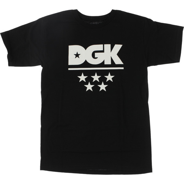 DGK Skateboards All Star Black / White Men's Short Sleeve T-Shirt - Small