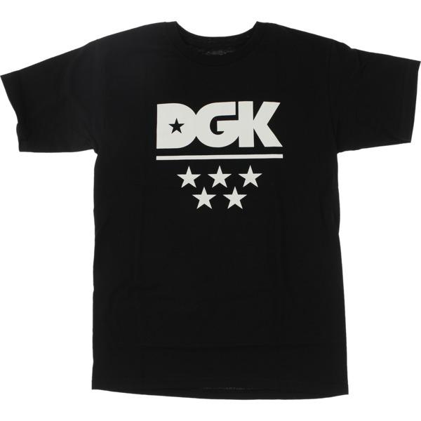 DGK Skateboards All Star Black / White Men's Short Sleeve T-Shirt - Large