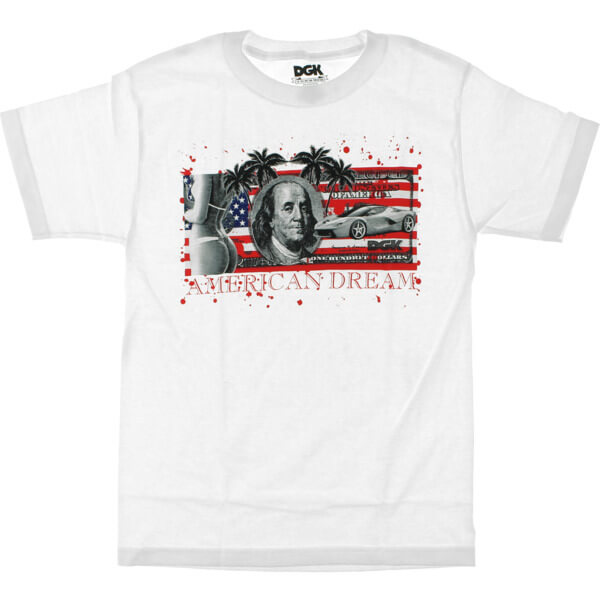 DGK Skateboards American Dream Bill White Men's Short Sleeve T-Shirt - Large