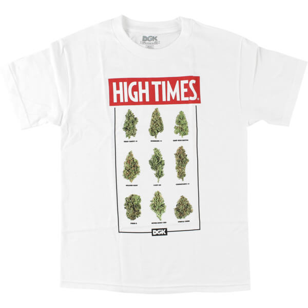 DGK Skateboards High Times Fire White Men's Short Sleeve T-Shirt - X-Large