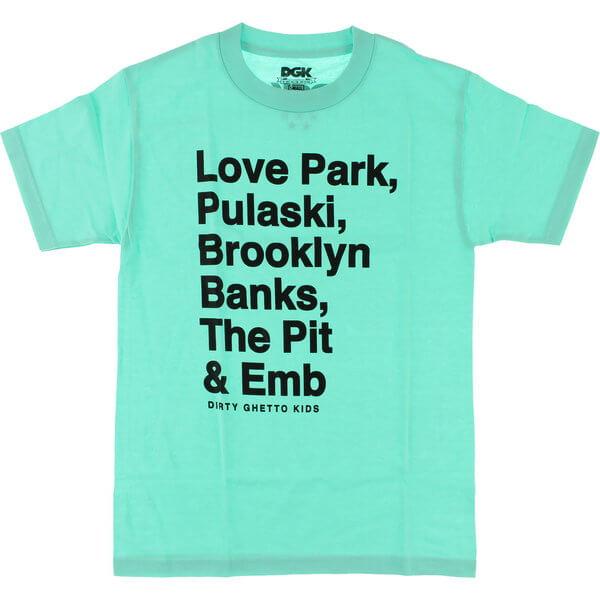 DGK Skateboards Plazas Mint Men's Short Sleeve T-Shirt - Small