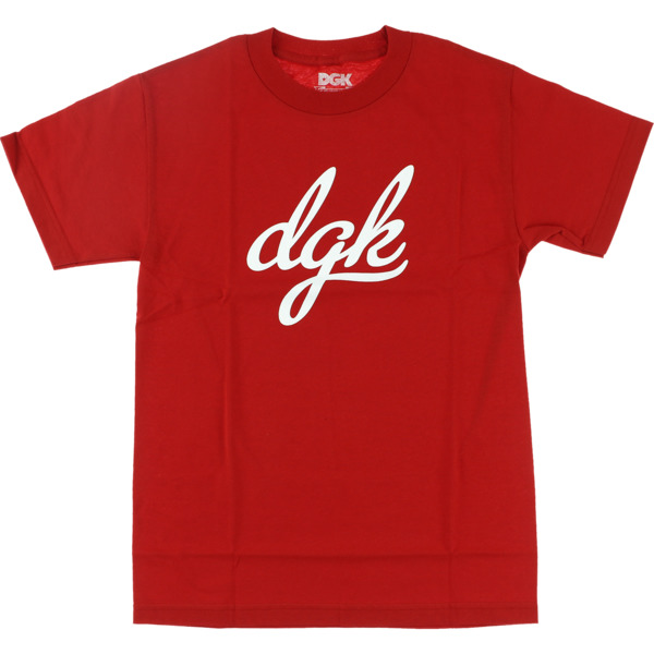 DGK Skateboards Script Red Men's Short Sleeve T-Shirt - Medium