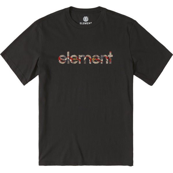 Element Skateboards Origins Flint Black Men's Short Sleeve T-Shirt - Small