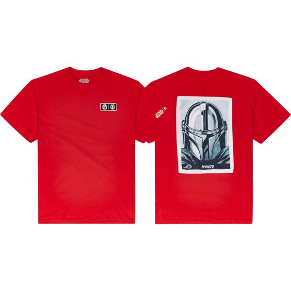 Element Skateboards Star Wars Mando Fire Red Men's Short Sleeve T-Shirt - Small