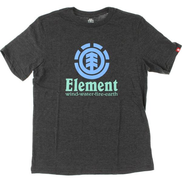 Element Skateboards Vertical Charcoal Heather Men's Short Sleeve T-Shirt - Small