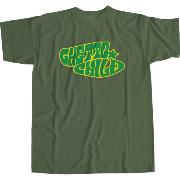 Ghetto Child Child Experience Forest Green Men's Short Sleeve T-Shirt - Small