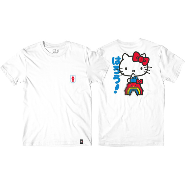 Girl Skateboards Hello Kitty Rainbow Men's Short Sleeve T-Shirt