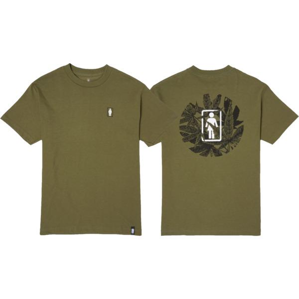 Girl Skateboards Smoke Session Military Green Men's Short Sleeve T-Shirt - Small