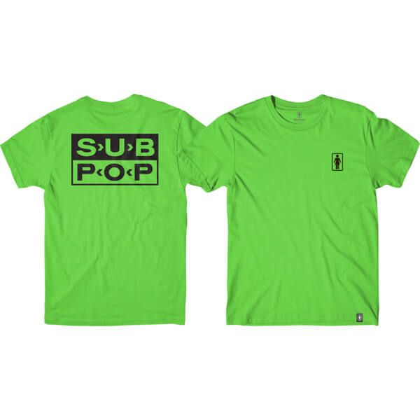 Girl Skateboards X Sub Pop Logo Men s Short Sleeve T-Shirt - Warehouse  Skateboards b2b532f8239a