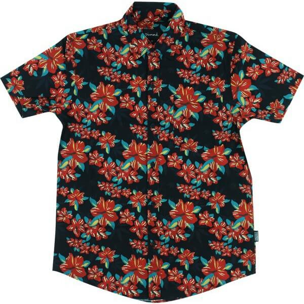 Grizzly Grip Tape Tropical High Short Sleeve Button Up