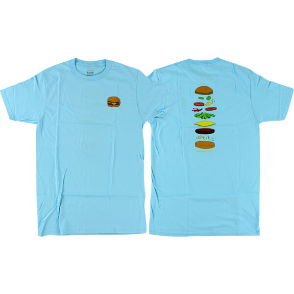 Habitat Skateboards Bob's Burgers Expanded Sky Blue Men's Short Sleeve T-Shirt - Large