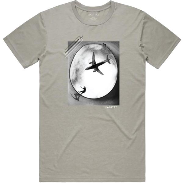 Habitat Skateboards Flyer Cement Grey Men's Short Sleeve T-Shirt - Medium