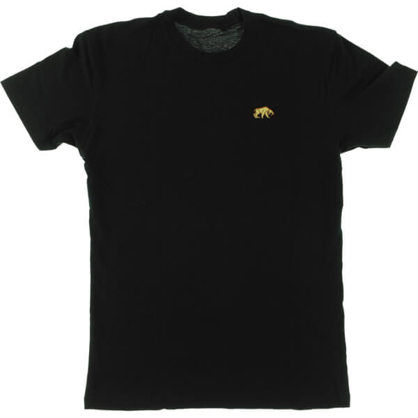 Habitat Skateboards Saber Tooth Embroidered Black Men's Short Sleeve T-Shirt - Small