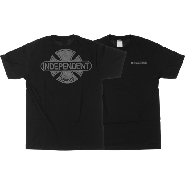 Independent Baseplate Black / Silver Men's Short Sleeve T-Shirt - Small