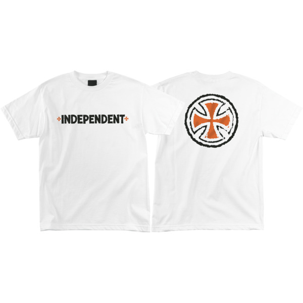 Independent Rough B/C White Men's Short Sleeve T-Shirt - Small