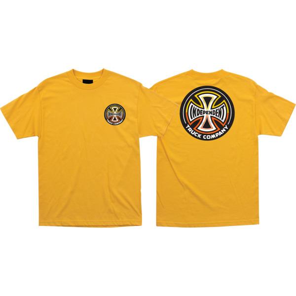 Independent Split Cross Gold Men's Short Sleeve T-Shirt - Medium