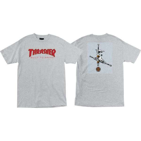 Independent Thrasher BTG Athletic Heather Men's Short Sleeve T-Shirt - Small