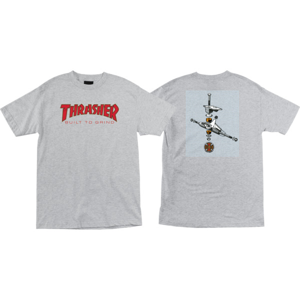 b544b3d3f9b7 Independent Thrasher BTG Athletic Heather Men's Short Sleeve T-Shirt - X-Large  - Warehouse Skateboards
