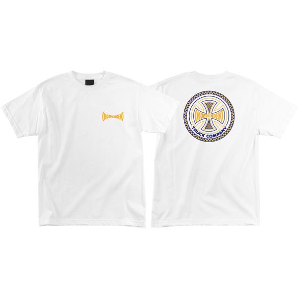 Independent Tiled White Men's Short Sleeve T-Shirt - Small