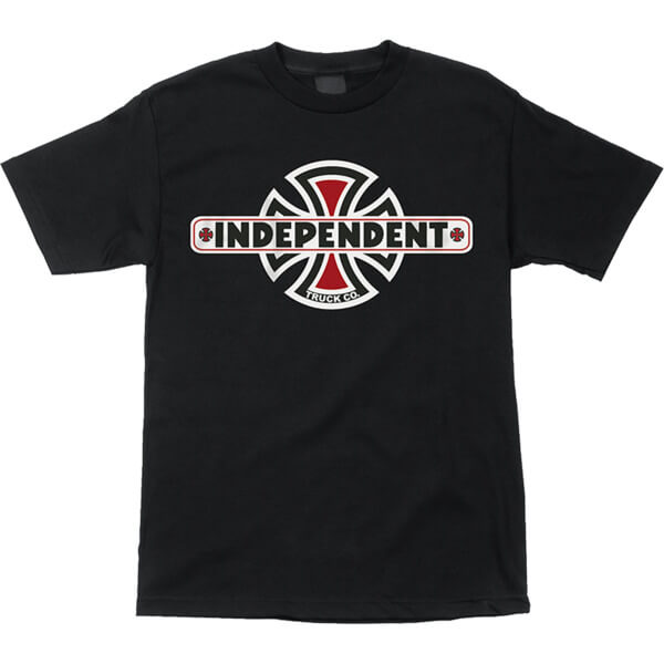 Independent Vintage Cross Black Men's Short Sleeve T-Shirt - Small