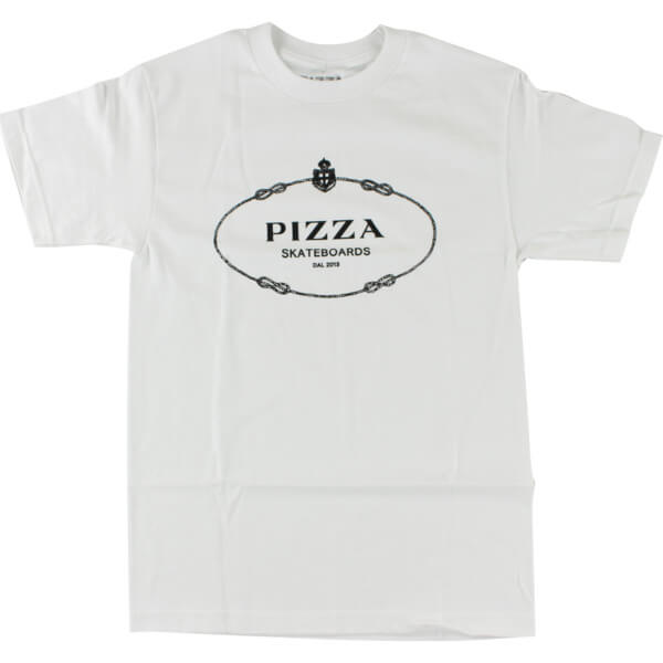 Pizza Skateboards Couture White Men's Short Sleeve T-Shirt - Small