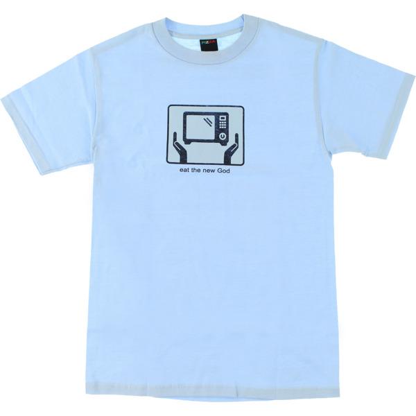Pizza Skateboards Eat Powder Blue Men's Short Sleeve T-Shirt - Large