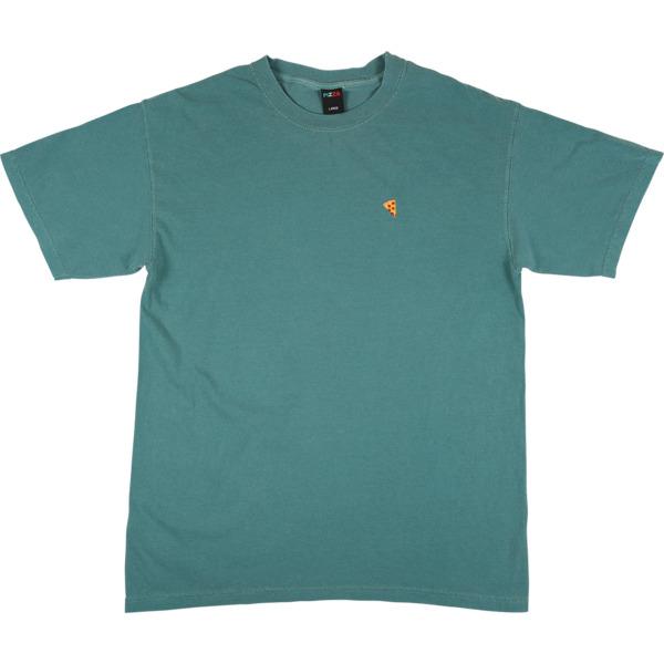 Pizza Skateboards Emoji Pigment Dyed Emerald Men's Short Sleeve T-Shirt - Small