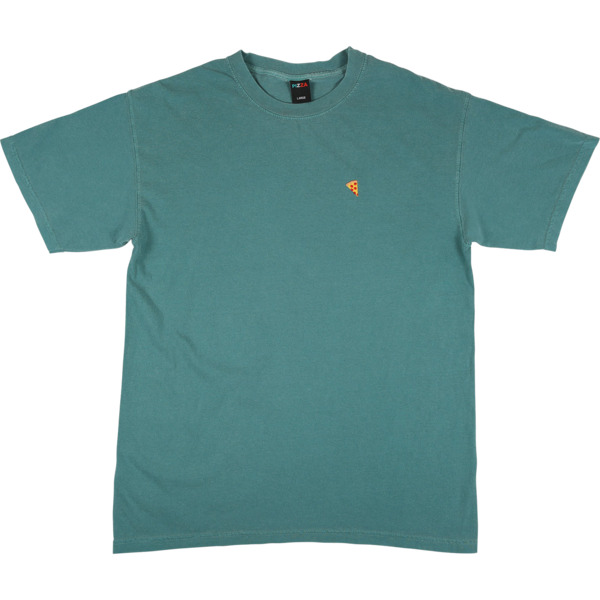 Pizza Skateboards Emoji Pigment Dyed Emerald Men's Short Sleeve T-Shirt - Medium