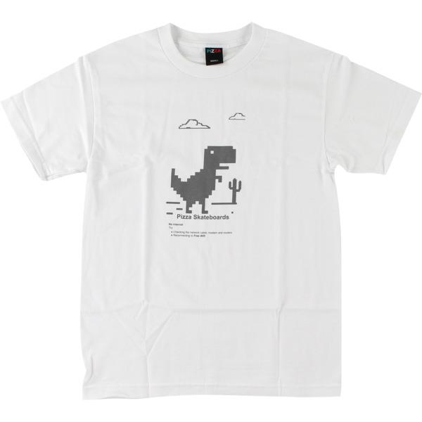 Pizza Skateboards Pizza X Free WIFI White Men's Short Sleeve T-Shirt - Medium