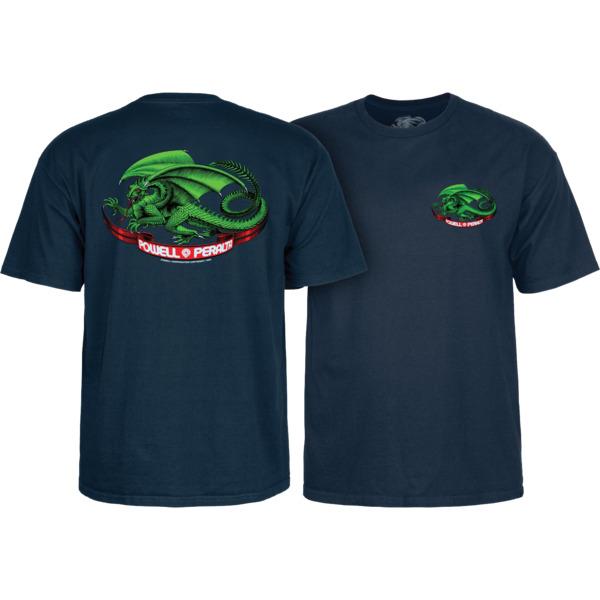 Powell Peralta Oval Dragon Navy Men's Short Sleeve T-Shirt - Small