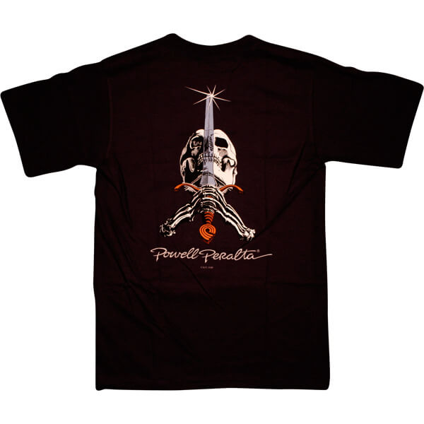 Powell Peralta Skull & Sword Black Men's Short Sleeve T-Shirt - Small