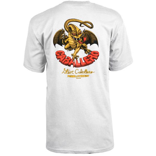Powell Peralta Steve Caballero Dragon II White Men's Short Sleeve T-Shirt - Small